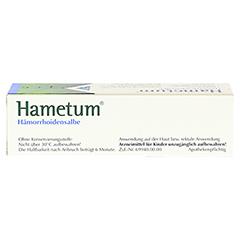 Hametum Hämorrhoidensalbe 25 Gramm N1 - Oberseite