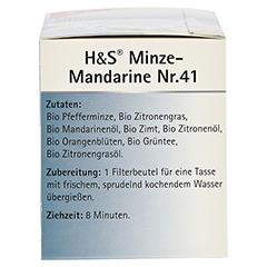 H&S Bio Minze-Mandarine Aromatherapie Filterbeutel 20 Stück - Linke Seite