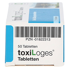 TOXI LOGES Tabletten 50 Stück - Linke Seite
