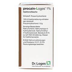 PROCAIN Loges 1% Injektionsflasche 100 Milliliter N3 - Rechte Seite