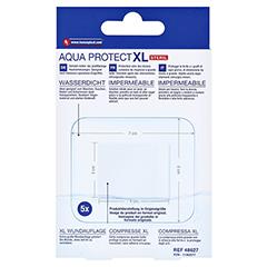 HANSAPLAST Aqua Protect XL Pflaster 6x7 cm 5 Stück - Rückseite