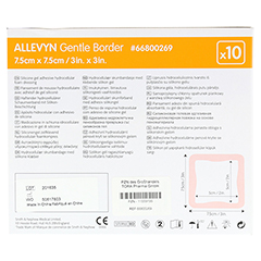 ALLEVYN Gentle Border 7,5x7,5 cm Schaumverb. 10 Stück - Rückseite
