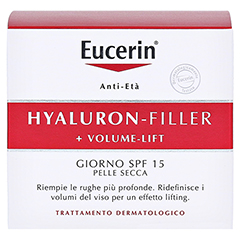 EUCERIN Anti-Age VOLUME-FILLER Tag trockene Haut + gratis Eucerin Hyaluron Anti-Age Set 50 Milliliter - Rückseite