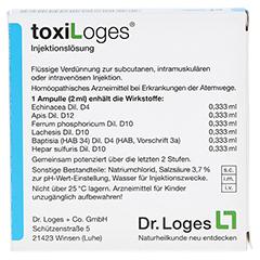 TOXI LOGES Injektionslösung Ampullen 5x2 Milliliter - Rückseite