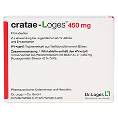 Cratae-Loges 450mg 100 Stück N3 - Rückseite