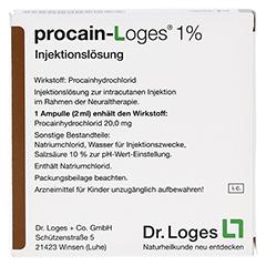 PROCAIN Loges 1% Injektionslösung Ampullen 5x2 Milliliter - Rückseite