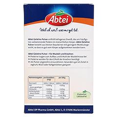 ABTEI Gelatine (Pulver) 250 Gramm - Rückseite