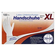 HANDSCHUHE Einmal Latex gepudert XL 100 Stück - Oberseite