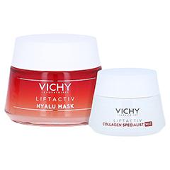 Vichy Liftactiv Hyalu Mask Hyaluron Maske + gratis Vichy Liftactiv Collagen Specialist Nacht 15ml 50 Milliliter