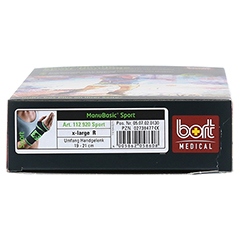 BORT ManuBasic Sport Bandage re.x-large schw/grün 1 Stück - Unterseite