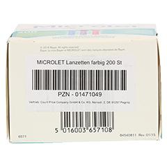 MICROLET Lanzetten CPC 200 Stück - Unterseite