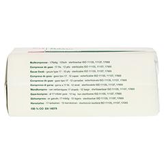 GAZIN Mullkomp.7,5x7,5 cm unsteril 12fach Op 100 Stück - Unterseite