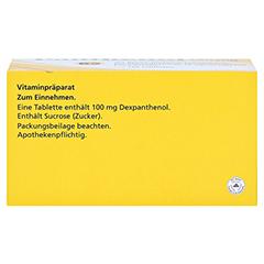 PANTHENOL 100 mg Jenapharm Tabletten 100 Stück N3 - Unterseite