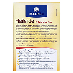 Bullrichs Heilerde Pulver zum Einnehmen und Auftragen 500 Gramm - Rückseite