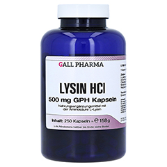 LYSIN HCL 500 mg GPH Kapseln 250 Stück