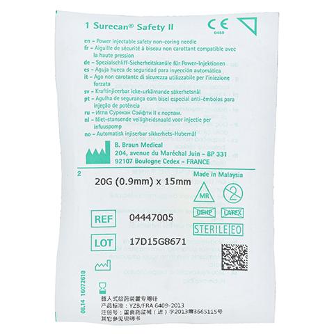SURECAN Safety II Portkanüle 20 Gx15 mm 1 Stück