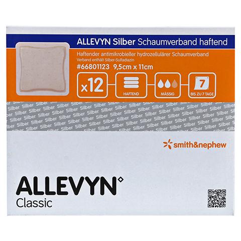 ALLEVYN Silber Schaumverb.9,5x11 cm haftend 12 Stück