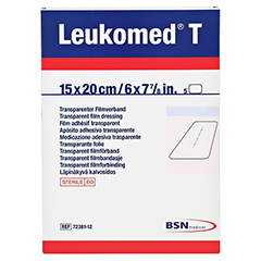 LEUKOMED transp.sterile Pflaster 15x20 cm 5 Stück - Vorderseite