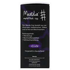 MERULA Menstrual Cup midnight schwarz 1 Stück - Linke Seite
