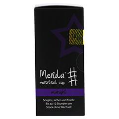 MERULA Menstrual Cup midnight schwarz 1 Stück - Rechte Seite
