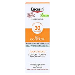 EUCERIN Sun Gel-Creme Oil Contr.Anti-Gl.Eff.LSF 30 50 Milliliter - Rückseite