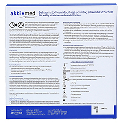 AKTIVMED Schaumst.Wundaufl.sens.silikonb.10x10cm 10 Stück - Rückseite