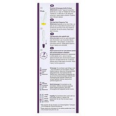 CYCLOTEST Schwangerschafts-Frühtest 10 mlU/ml Urin 1 Stück - Unterseite