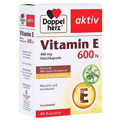 DOPPELHERZ Vitamin E 600 N Weichkapseln 40 Stück
