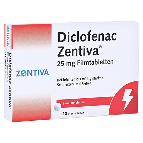 Diclofenac Zentiva 25mg 10 Stück