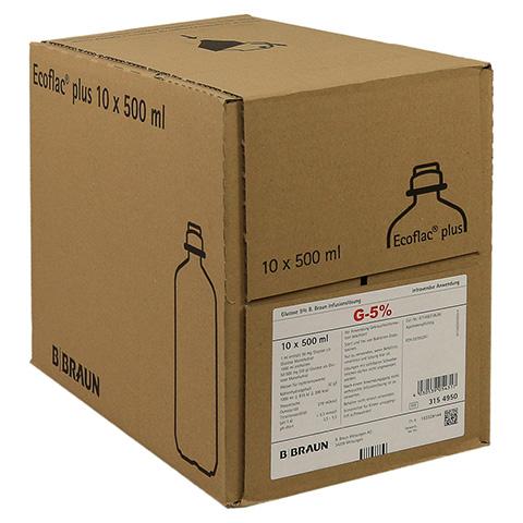 GLUCOSE 5% B.Braun Ecoflac Plus 10x500 Milliliter N2