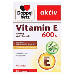 DOPPELHERZ Vitamin E 600 N Weichkapseln 40 Stück - Vorderseite