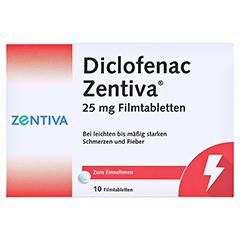 Diclofenac Zentiva 25mg 10 Stück - Vorderseite