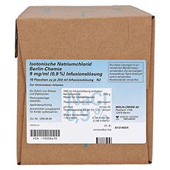 ISOTONISCHE NaCl BC 9 mg/ml 0,9% Inf.-Lsg.Glasfl. 10x250 Milliliter N2 - Vorderseite