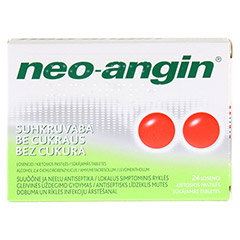 Neo-Angin Halstabletten zuckerfrei 24 Stück N1 - Vorderseite