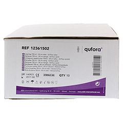 QUFORA Beinbeutel 750 ml 50 cm mit Q-Flow steril 10 Stück - Vorderseite