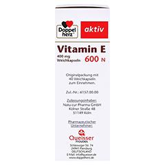DOPPELHERZ Vitamin E 600 N Weichkapseln 40 Stück - Linke Seite