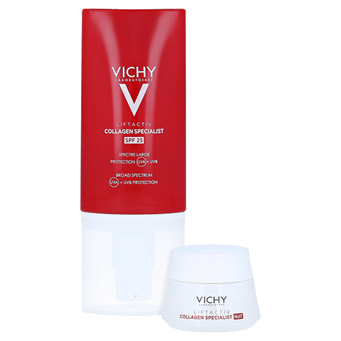 Vichy Liftactiv Collagen Specialist Anti-Age Tagespflege LSF 25 + gratis Vichy Liftactiv Collagen Specialist Nacht 15ml 50 Milliliter