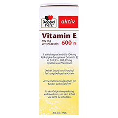 DOPPELHERZ Vitamin E 600 N Weichkapseln 40 Stück - Rechte Seite