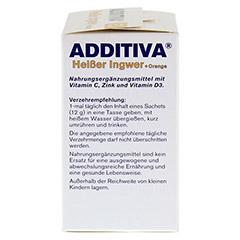 ADDITIVA heißer Ingwer+Orange Pulver 120 Gramm - Rechte Seite