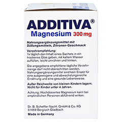 ADDITIVA Magnesium 300 mg N Pulver 20 Stück - Rechte Seite