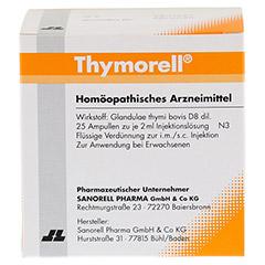 THYMORELL Injektionslösung in Ampullen 25x2 Milliliter N3 - Rückseite