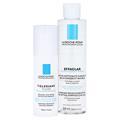ROCHE POSAY Toleriane Fluid Feuchtigkeitspflege + gratis La Roche Posay Effaclar klärende Lotion 200ml 40 Milliliter