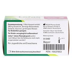 LEFAX intens Flüssigkapseln 250 mg Simeticon 50 Stück - Unterseite