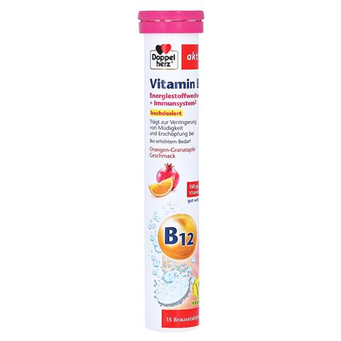 DOPPELHERZ Vitamin B12 Brausetabletten 15 Stück