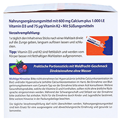 CALCIUM OSTEO 600 Direkt Portionssticks 120 Stück - Linke Seite