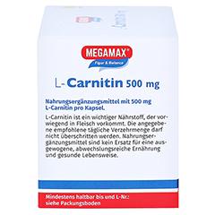 L-Carnitin 500 mg Megamax Kapseln 120 Stück - Linke Seite