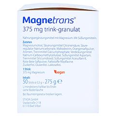 Magnetrans Trink 375 mg Granulat 50 Stück - Rechte Seite