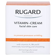 Rugard Vitamin Creme Gesichtspflege 100 Milliliter - Rückseite