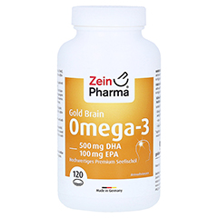 OMEGA-3 Gold Gehirn DHA 500mg/EPA 100mg Softgelkap 120 Stück