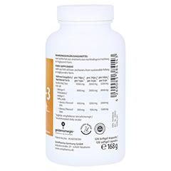 Omega-3 Gold Herz DHA 300 mg/EPA 400 mg Softgelkapseln 120 Stück - Linke Seite